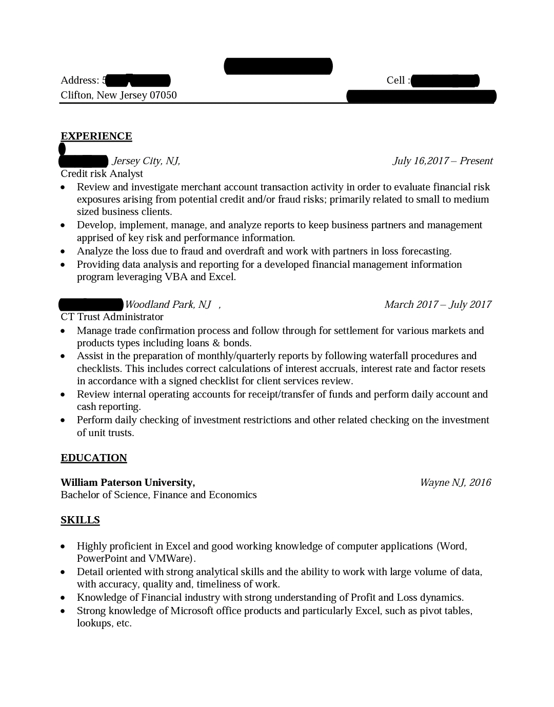 is my resume good format for financial analyst resumes finance skills section Resume Finance Resume Skills Section