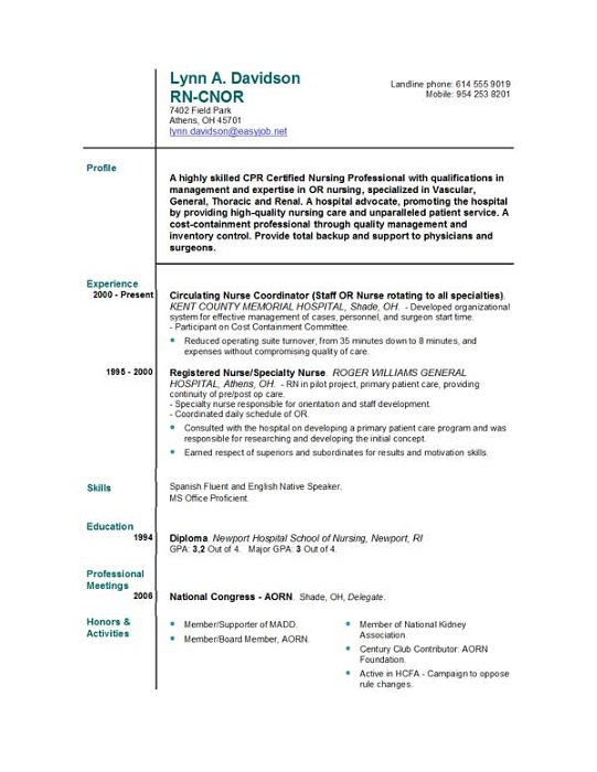 nurse resume easyjob objective statement for free resumes examples occupational therapist Resume Objective Statement For Nurse Resume