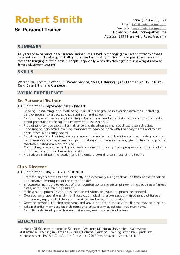personal trainer resume samples qwikresume sample pdf scala developer examples for cover Resume Personal Trainer Resume Sample
