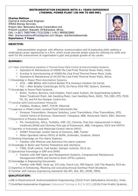plant mechanical maintenance engineer resume pdf best examples thermal software academic Resume Thermal Power Plant Engineer Resume