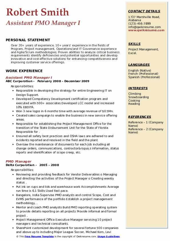 pmo manager resume samples qwikresume sample for role pdf data analysis example human Resume Sample Resume For Pmo Role
