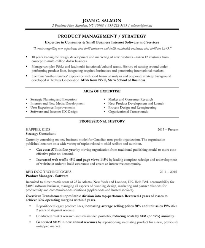 product manager free resume samples blue sky resumes director of management joan salmoin Resume Director Of Product Management Resume