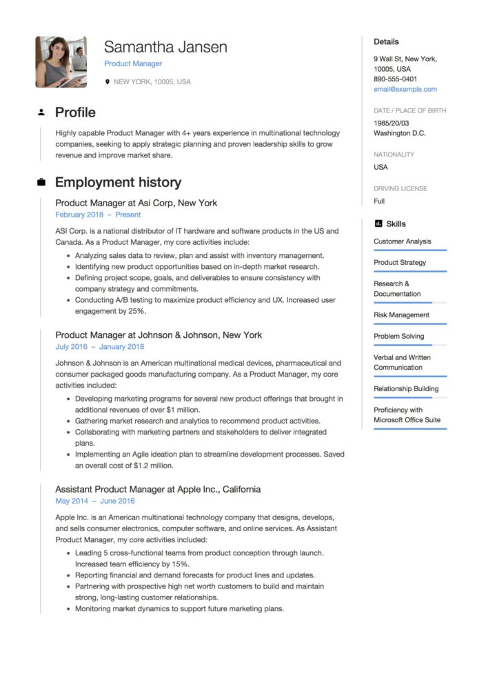 product manager resume guide samples pdf director of management example extracurricular Resume Director Of Product Management Resume