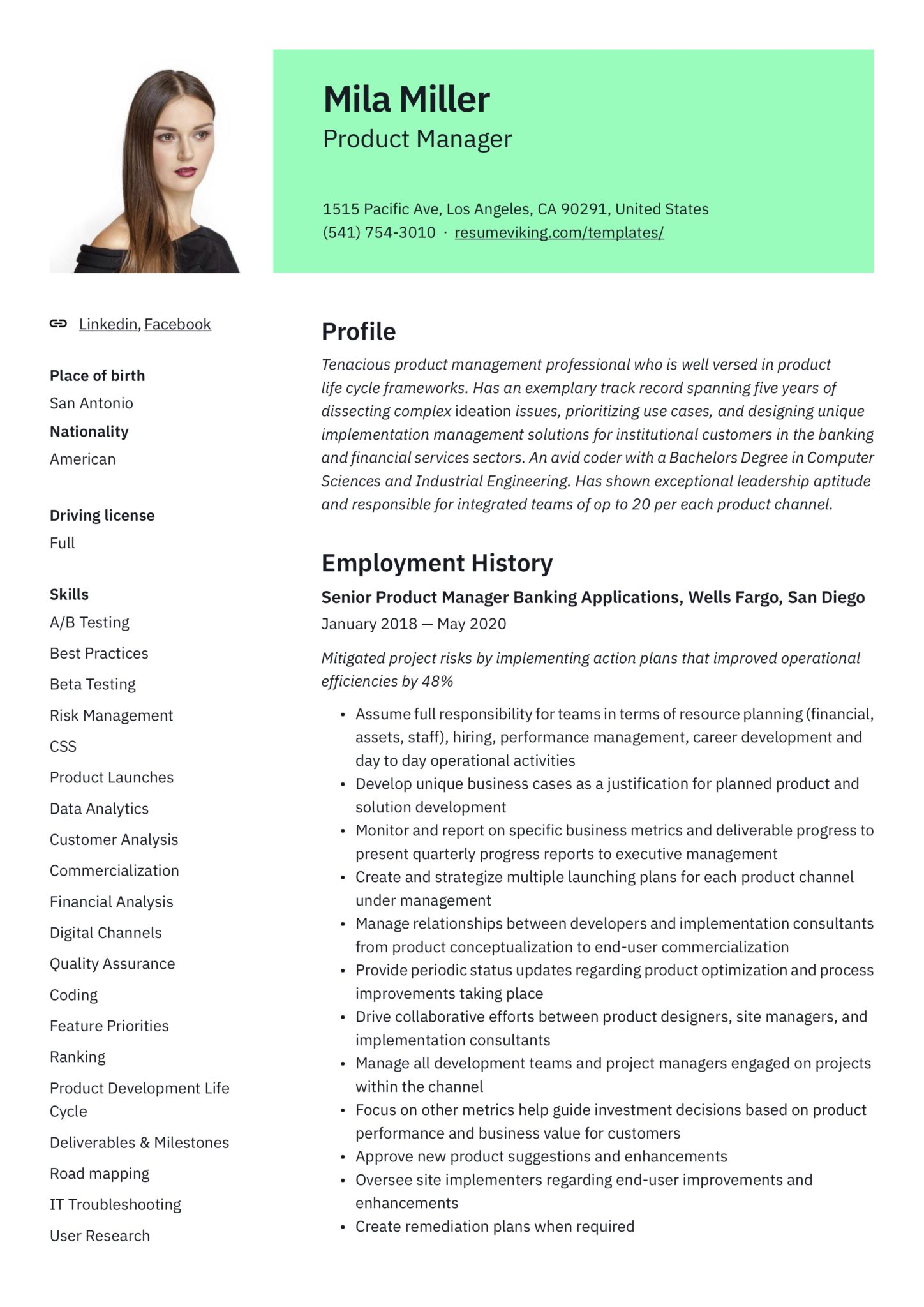 product manager resume guide samples pdf director of management scaled ramp agent example Resume Director Of Product Management Resume