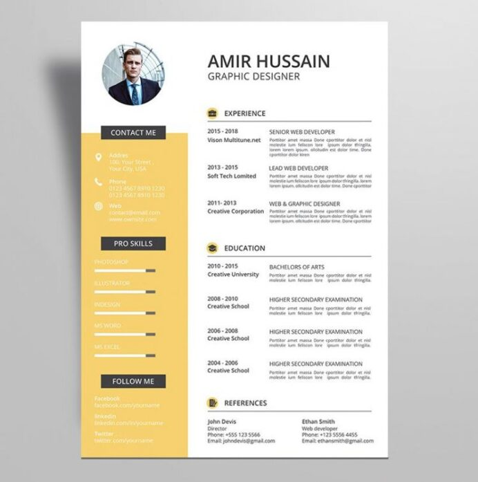 professional resume cv template free stockpsd example profile about yourself outline word Resume Resume Example Professional Profile About Yourself
