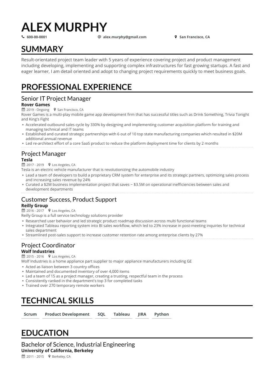 project manager resume examples guide expert tips for management experience generated Resume Project Management Experience Resume