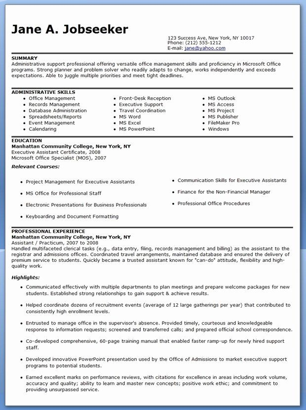 reentering the workforce resume examples beautiful sample administrative assistant skills Resume Resume After Long Absence From Workforce