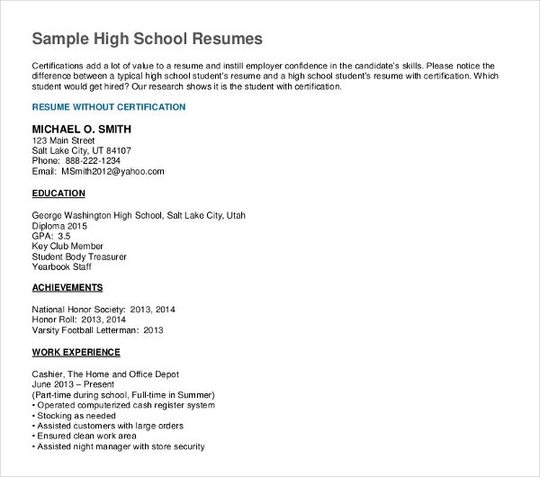 resume format high school graduate student template examples recent should you include on Resume Recent High School Graduate Resume