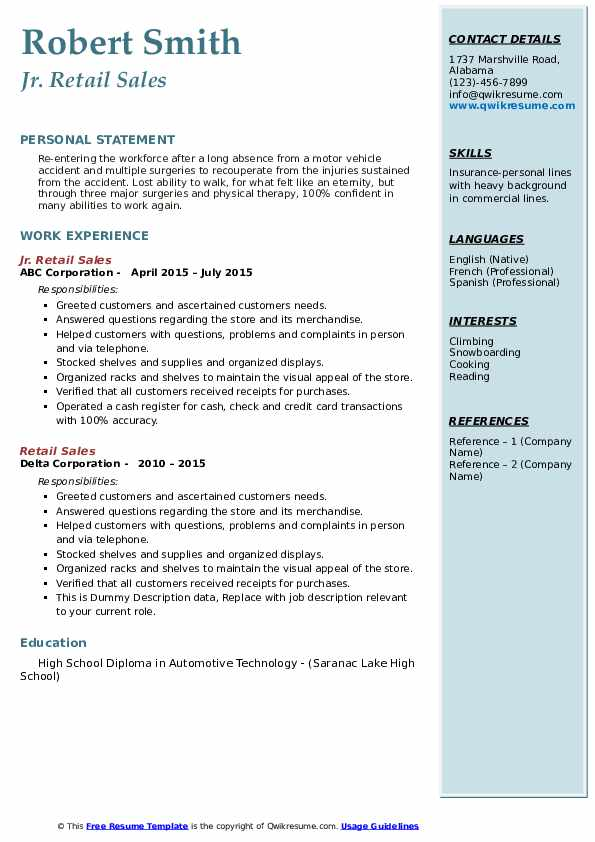 retail resume samples qwikresume after absence from workforce pdf clinical research Resume Resume After Long Absence From Workforce