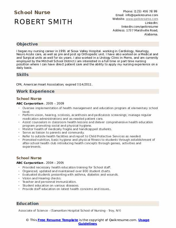 school nurse resume samples qwikresume objective statement for pdf ecommerce skills seo Resume Objective Statement For Nurse Resume
