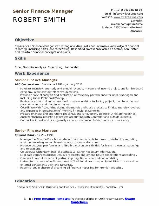 senior finance manager resume samples qwikresume professional pdf aux customer service Resume Finance Professional Resume