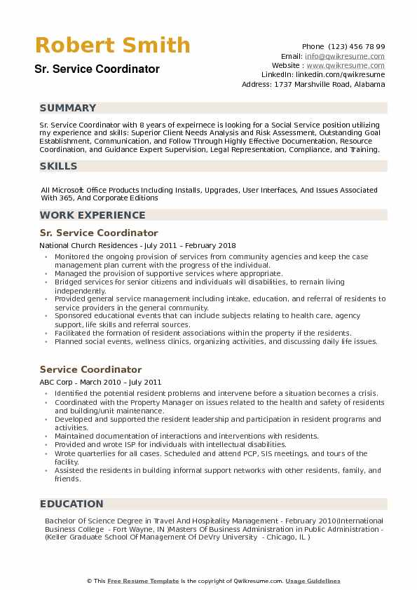 service coordinator resume samples qwikresume customer sample pdf multiple locations same Resume Customer Service Coordinator Resume Sample