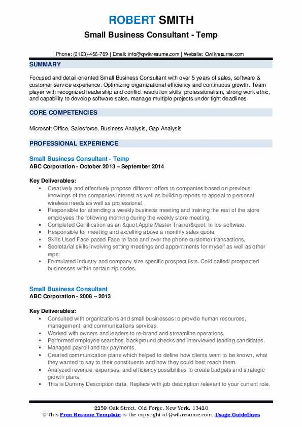 small business consultant resume samples qwikresume advisor pdf builder high school free Resume Small Business Advisor Resume