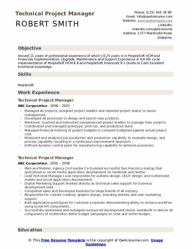 technical project manager resume samples qwikresume management experience pdf substitute Resume Project Management Experience Resume