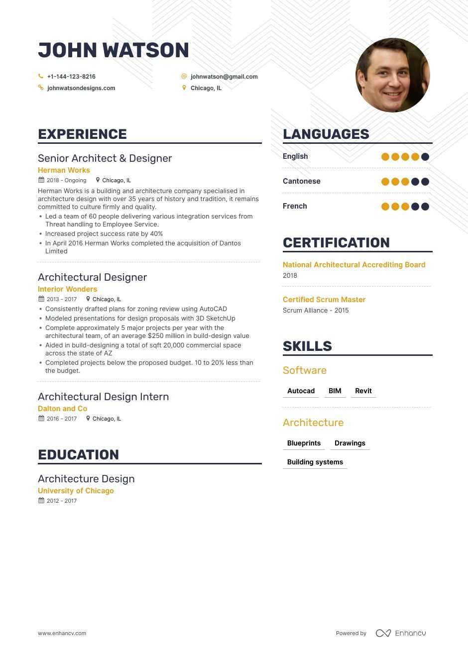 the best architectural designer resume examples skills to get you hired landscape Resume Landscape Architect Resume Sample