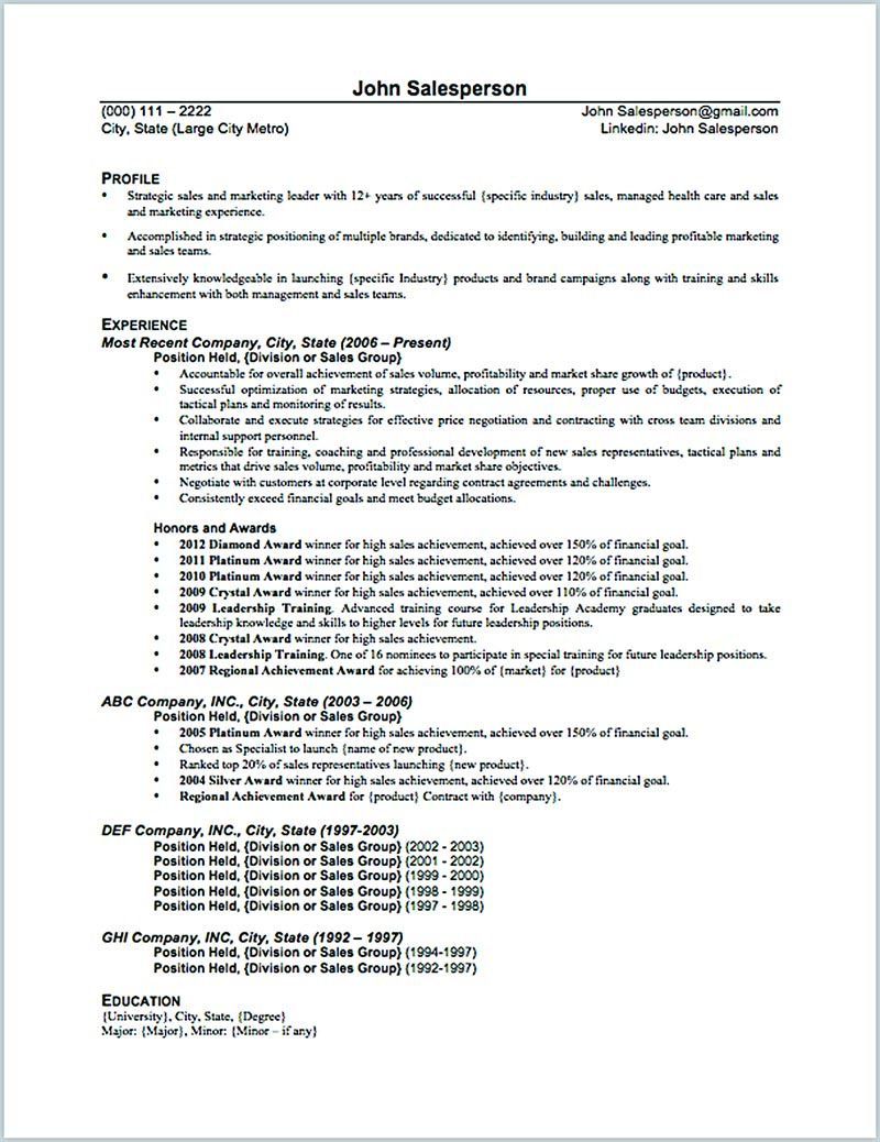 the salesperson resume can good start when you are starting to have great skill examples Resume Resume Example Professional Profile About Yourself