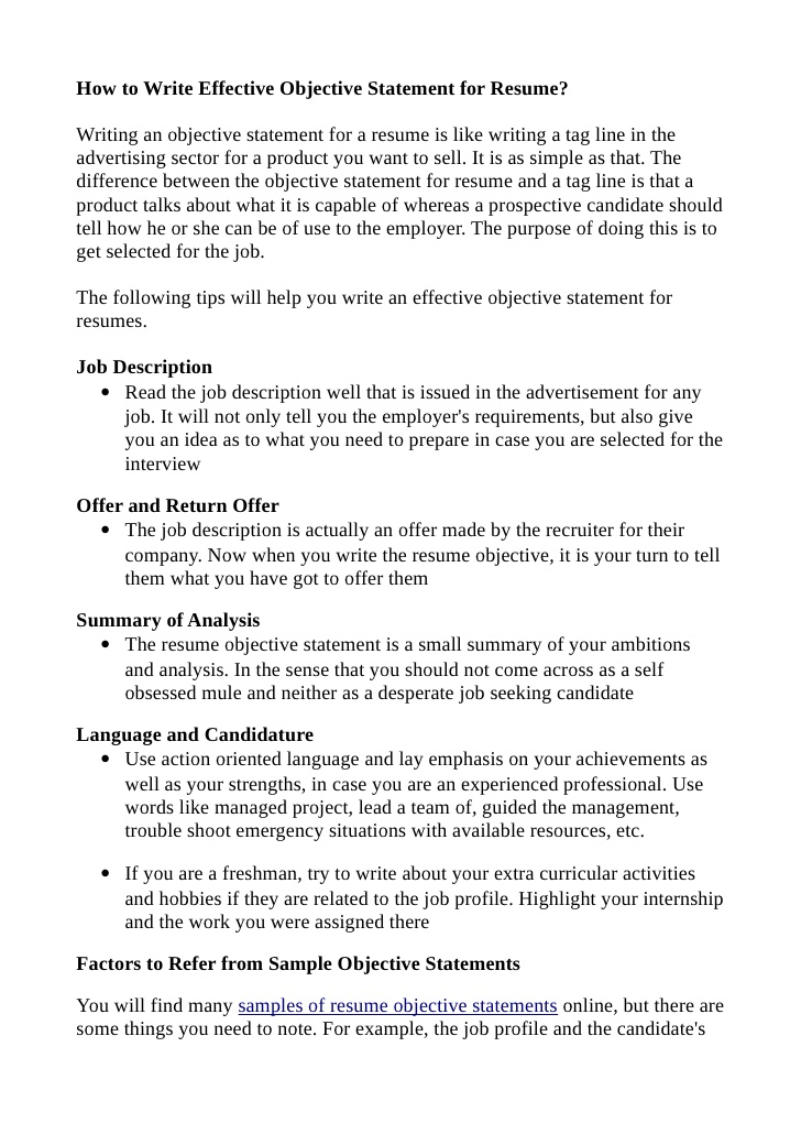 to write effective objective statement for resume objectives samples bsn example beginner Resume Effective Resume Objectives Samples