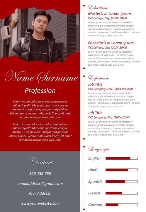 unique cv format visual resume design with working skills powerpoint slides diagrams Resume Unique Skills For Resume