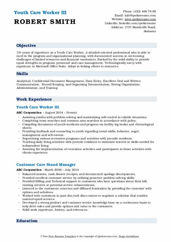 youth care worker resume samples qwikresume child and sample pdf simple model government Resume Child And Youth Worker Resume Sample